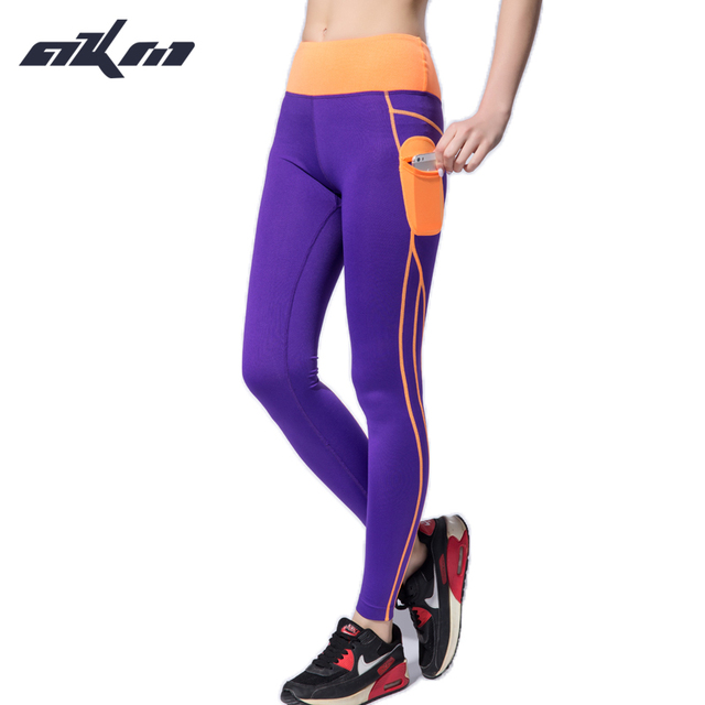 2017 Push Up Spandex Women leggins Pants With Side Pocket Patchwork High Waist Elastic Leggings  Clothes Women Pants