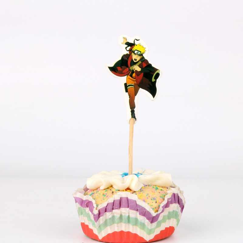 24 Buah/Banyak Baru Hokage Tema Topper Kue Selamat Ulang Tahun Pesta Baby Shower Anak Pesta Dekorasi Anak Kue Dekorasi Persediaan