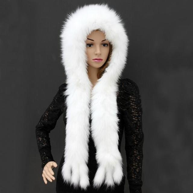 ZDFURS * Popular fur hat  fashion fox fur hat scarf  Women Winter Natural Fox Fur Hat