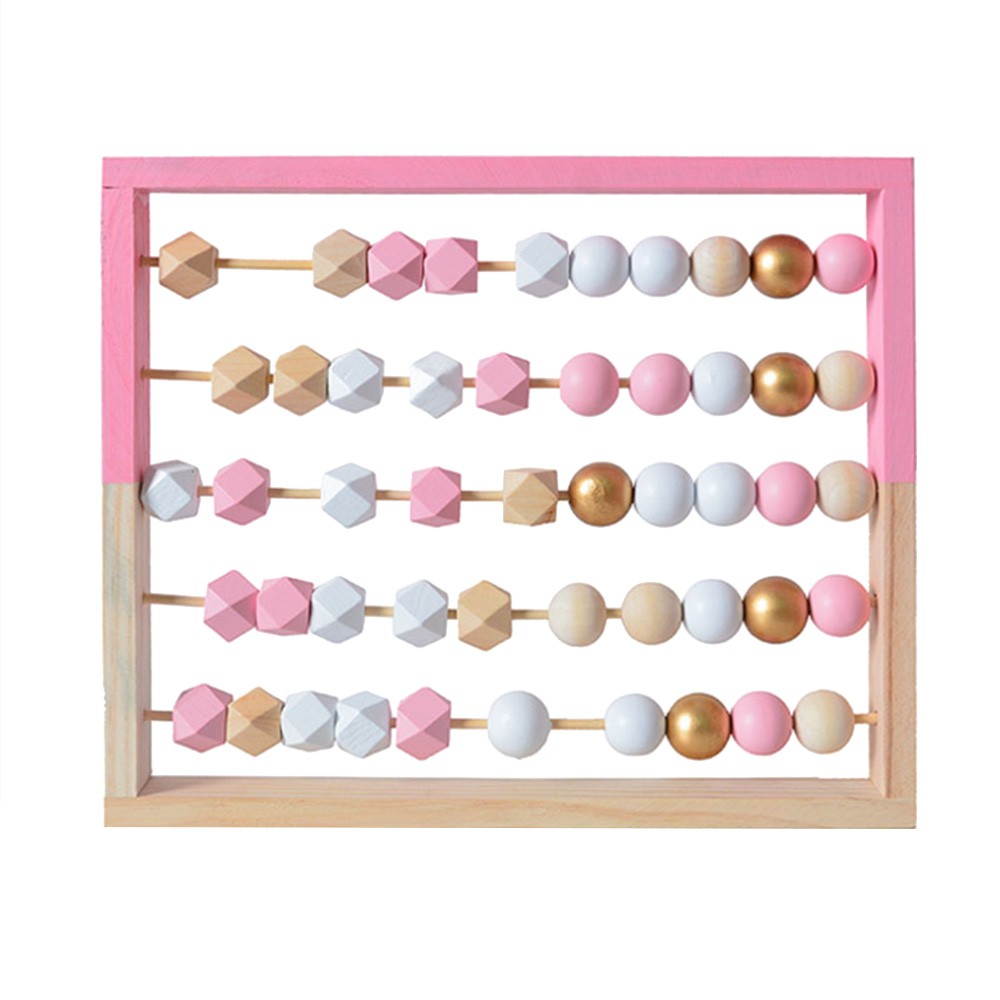Children Wooden Geometry Beads 3 5 Rows Abacus Educational Toy Kids Early Learning Educational Toy in Math Toys from Toys Hobbies
