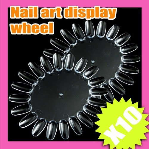 New Arrival Free Shipping 10pcs/LOT nail art display clear transparent acrylic tip Tool S046