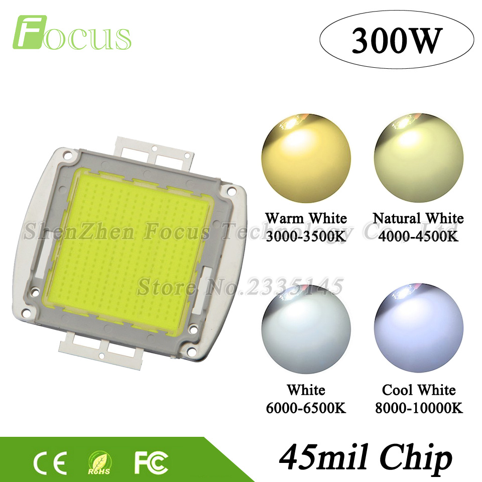 1Pcs High Power LED Chip 300W Natural Warm Cool White COB 32-34V Light Beads For 300 Watt Floodlight Spotlight Outdoor lights 2pcs lot us cree cxa 3070 beads 117w high power led chip 2700 3000k 5000 6500k pure white warm white