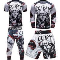 Camisetas de Boxeo Mma + Pantalones para hombre, pantalones cortos MMA, camisetas de Boxeo mma, trajes Muay thai Jiu Jitsu, camiseta de BJJ Boxeo, chándal de gimnasio