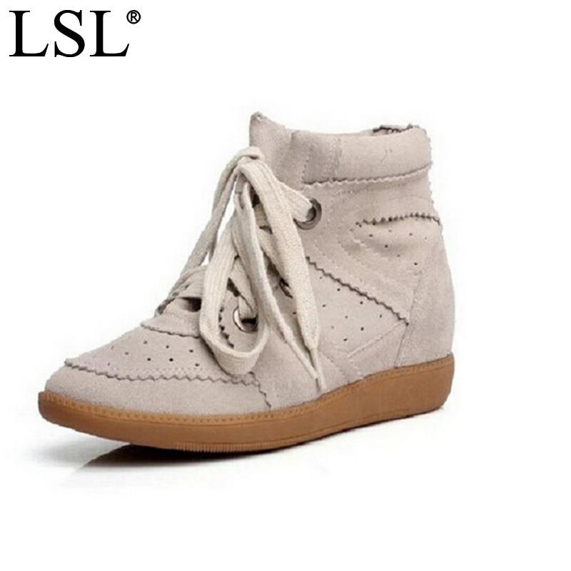 Livraison directe Bobby hiver automne chaussures à semelles compensées en cuir véritable femmes chaussures décontractées respirant hauteur augmentant plate-forme chaussures