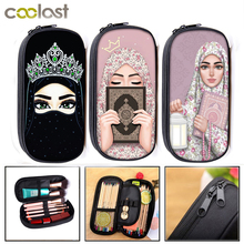 Woman In Hijab Face Cosmetic Cases Muslim Islamic Gril Eyes