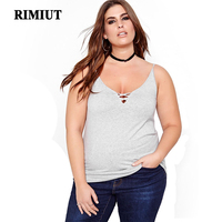 RIMIUT 2017 Sexy Plus Size V Neck Women Casual Tops T Shirt Solid Fat MM Mother