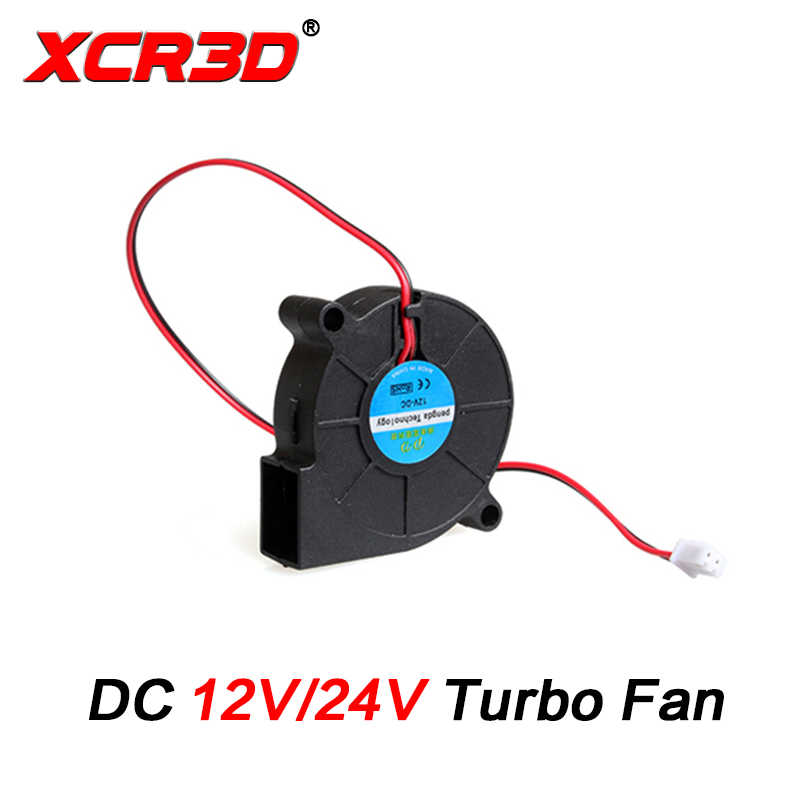 XCR3D 3D Printer Bagian 50X50X15 Mm Turbo Fan DC 12 V/24 V Blow Radial kipas Pendingin 2Pin XH2.54 Kawat untuk Hotend 5015 Sentrifugal