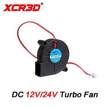 XCR3D 3D Printer Parts 50x50x15mm Turbo Fan DC 12v/24V Blow Radial Cooling fan 2Pin XH2.54 Wire for Hotend 5015 Centrifugal 3d printer parts cyclops 2 in 1 out 2 colors hotend 0 4 1 75mm 12v 24v fan bowden with titan bulldog extruder multi color nozzle