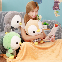 1pc 40cm Cute Plush Penguin Pillow Toys Pillow And Blanket Combo Doll Toys Kawaii Multipurpose Gifts