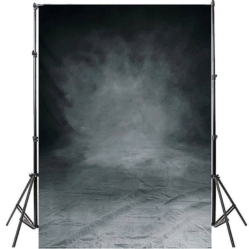 Mayitr 5ftx 7ft Vinyl Cloth Photography Backdrop Computer Printing Black grey Background For Photo Studio