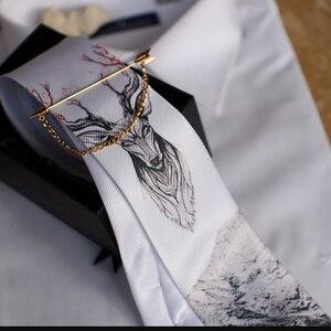 Image 2 - Free Shipping New fashion male mens casual Original handmade wedding party birthday unique tie printed necktie host Western