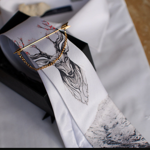 Image 2 - Freies Verschiffen Neue mode männlichen männer casual Original handgemachte hochzeit party geburtstag einzigartige krawatte gedruckt krawatte host Westlichen
