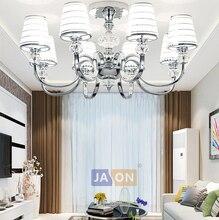ФОТО led e14 postmodern iron crystal fabric chrome led lamp.led light.ceiling lights.led ceiling light.ceiling lamp for bedroom
