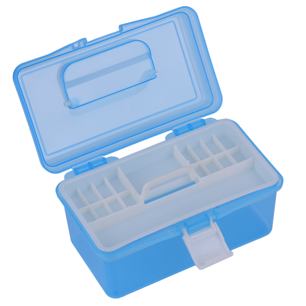 2 Layer Multi Utility Nail Art Tool Storage Case Portable Removabel Nail Gel Manicure Equipment Setl