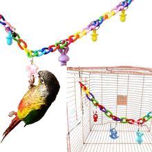 Креативные птицы подвесная игрушка лестница для лазания качель для птичьей клетки Игрушки мост струна качели разноцветный попугай игрушки