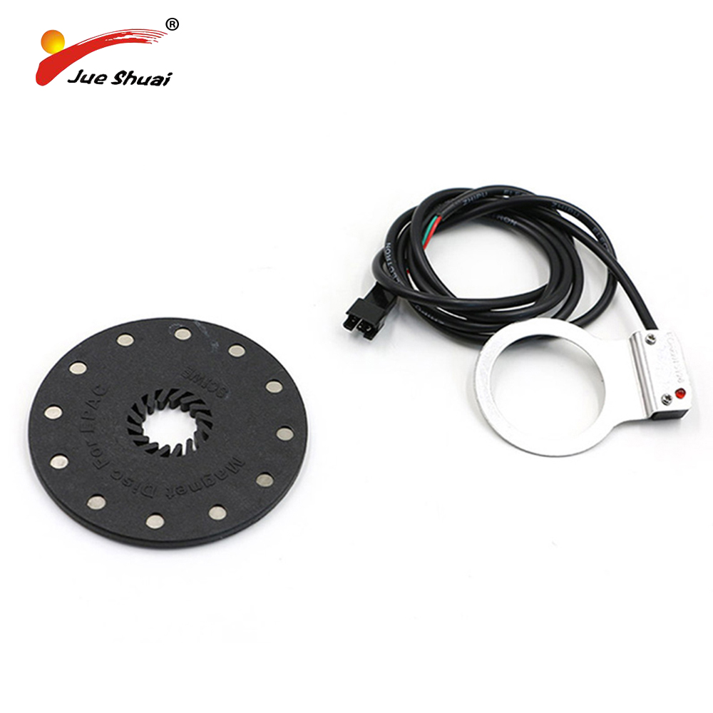 Electric Bicycle Pedal 12 Magnets E-bike PAS System Assistant Sensor Speed Sensor Black Color Easy to Install for Free Shipping
