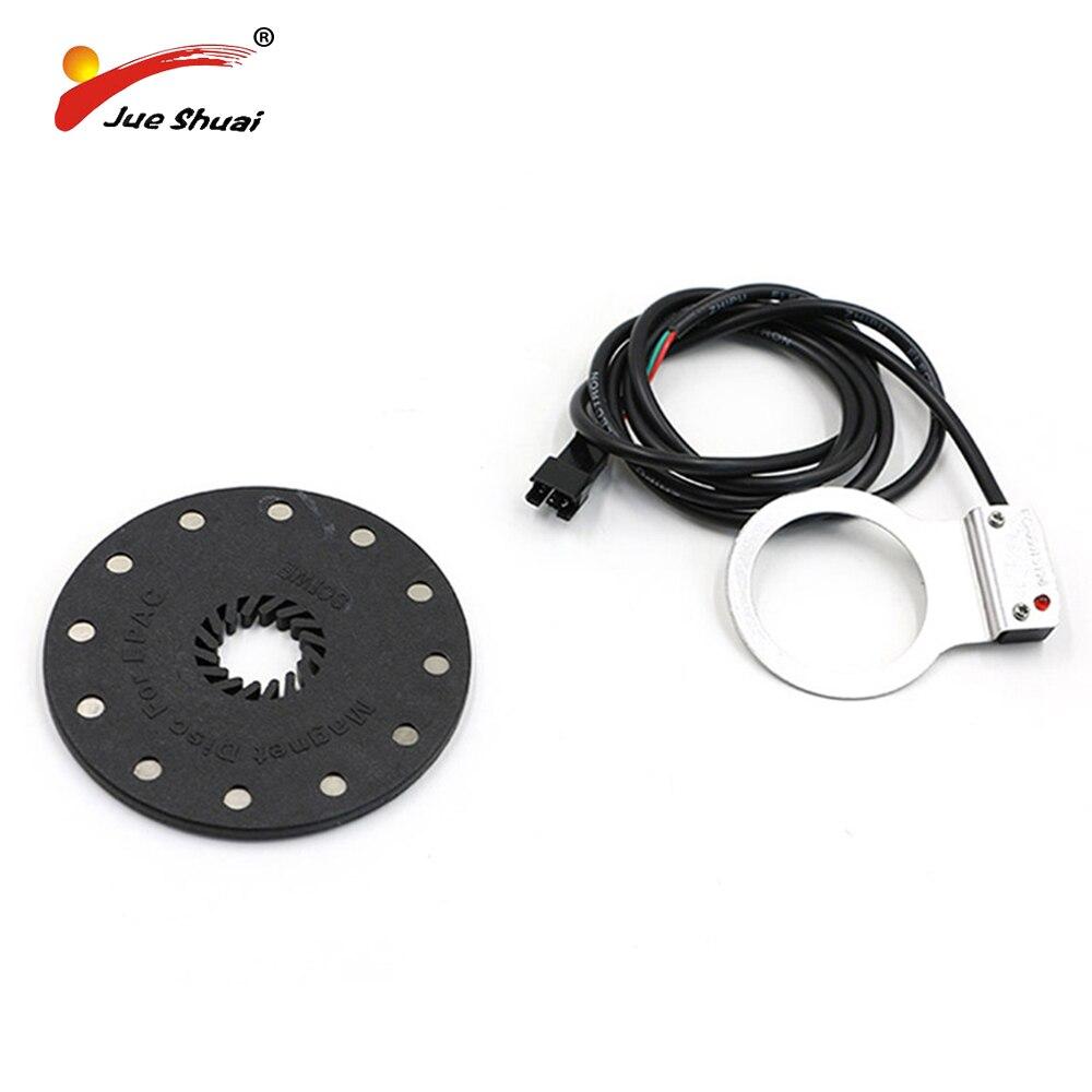 Elektrische Fahrrad Pedal 12 Magneten E-bike PAS System Assistent Sensor Geschwindigkeit Sensor Schwarz Farbe Einfach zu Installieren für freies Verschiffen