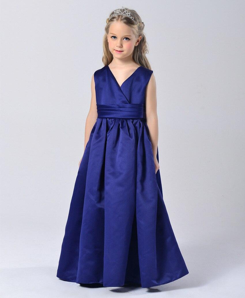 Mode königsblau ballkleid hochzeit mädchen kleider prinzessin ...