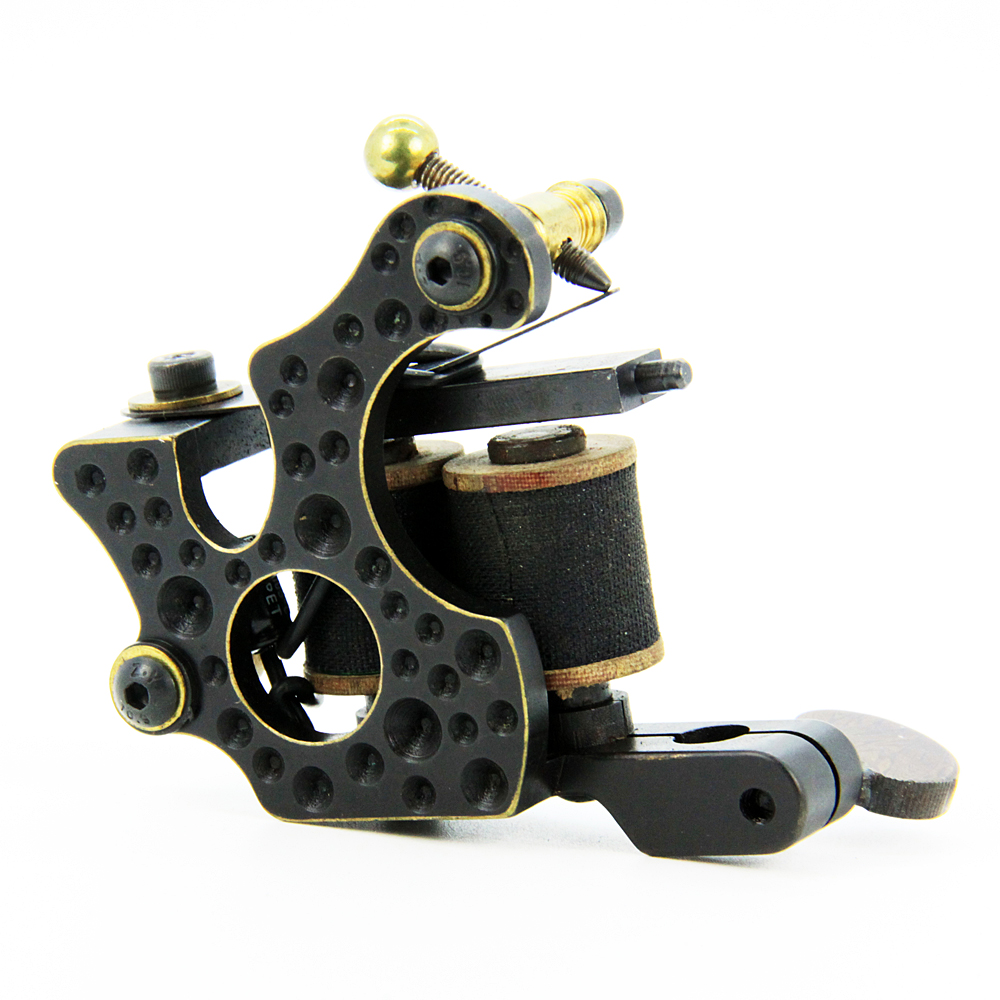 Top Pro Handmade Copper Tattoo Machine Gun 10 Wrap Coils Set Shader for Tattoo Supply -- CTM-1131S ковер kamalak tekstil ук 0515