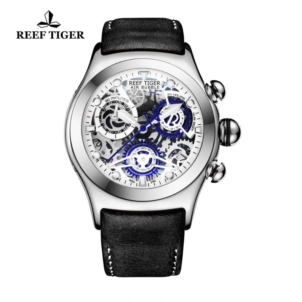 リーフ虎/RT カジュアルスポーツは男性用腕時計ダイヤルレザーストラップスチール防水アナログ時計レロジオ RGA792