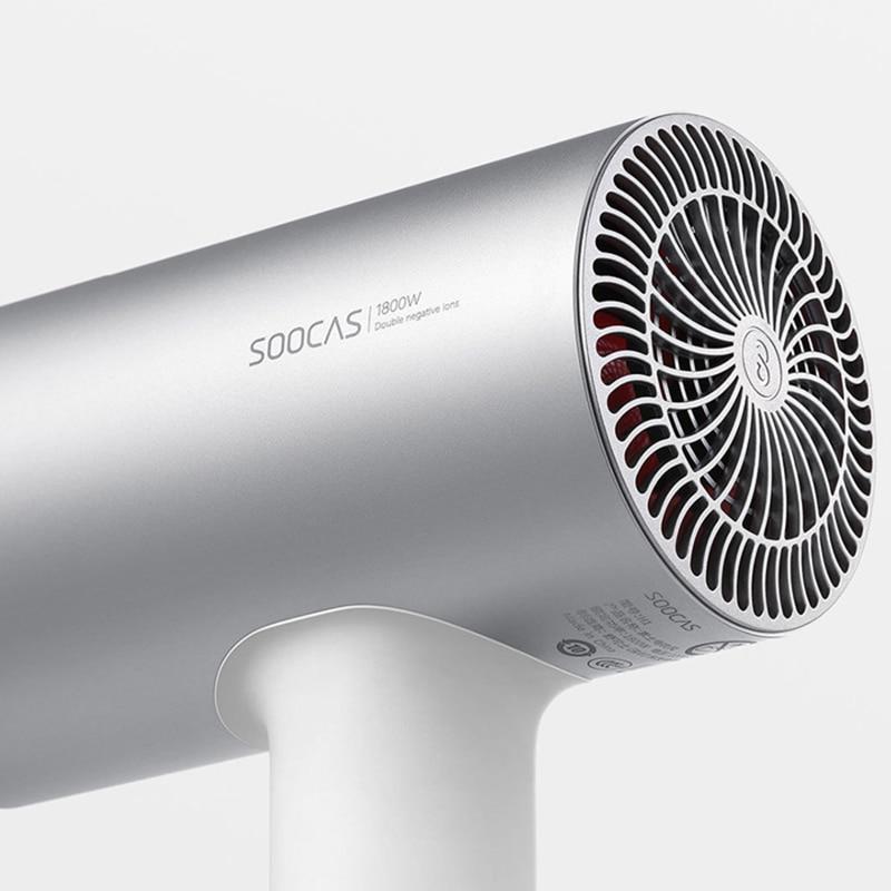2018 nowy Xiaomi Soocare Soocas H3 anionów suszarka do włosów korpus ze stopu aluminium 1800W wylot powietrza Anti Hot innowacyjnych projekt przekierowania w Suszarki do włosów od AGD na  Grupa 3