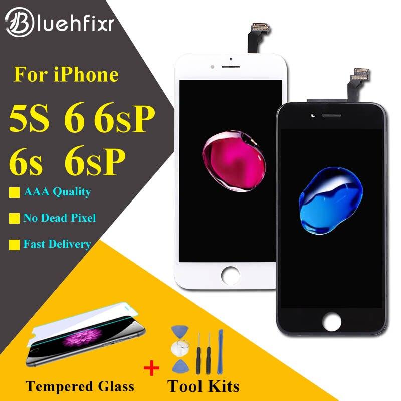 Bluehfixr LCD para iPhone 6 6 s 5S pantalla digitalizador de pantalla táctil de la Asamblea del teléfono, piezas de sustitución para iPhone 6 6 s Plus LCD
