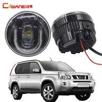 Cawanerl 2 шт. Автомобильный источник света светодиодные противотуманные лампы ДРЛ днем Бег лампа для Nissan X Trail T31 2007 2013