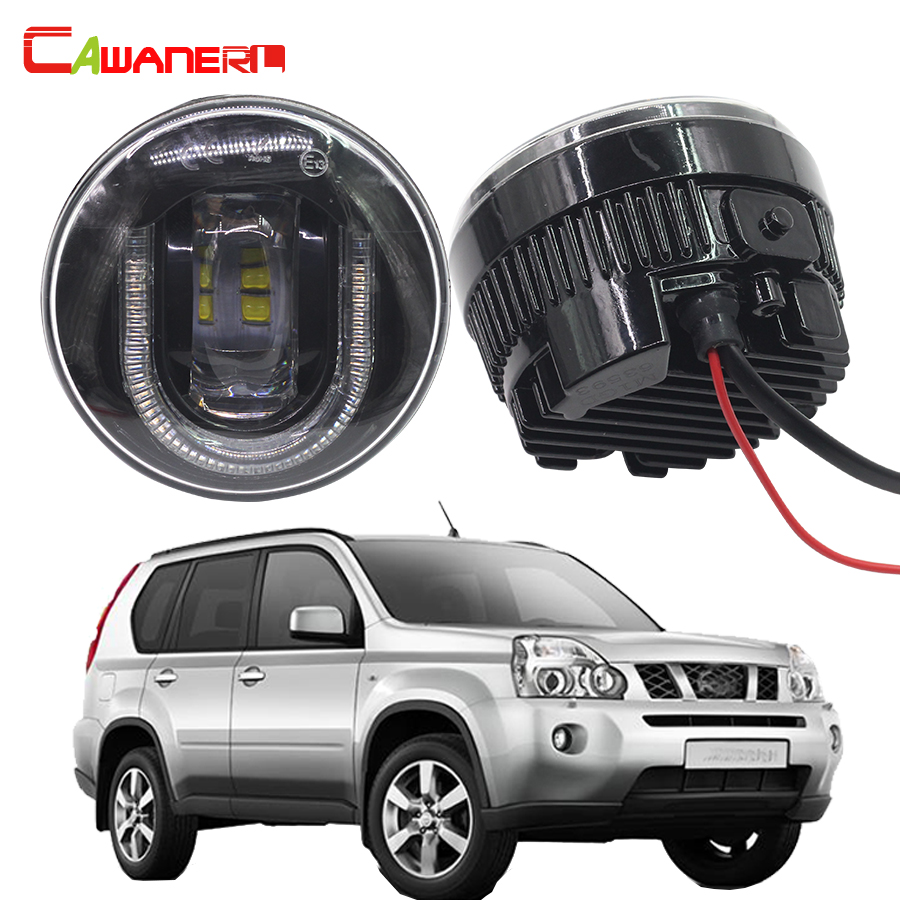 Cawanerl 2 Pieces Car Light Source LED Fog Lamp DRL Daytime Running Lamp For Nissan X-Trail T31 2007-2013 cawanerl 2 x led fog light drl daytime running lamp car styling for nissan tiida hatchback saloon 2007 onwards
