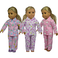 18 inch Fashion Style Multi Colors Flower Printed American Girl Doll Pajamas for 18 American Girl dolls