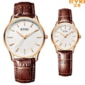 2016 High Quality Luxury Brand EYKI Lover's Watches Fashion Casual Business Classic Auto Date Leather Men Women dress watches