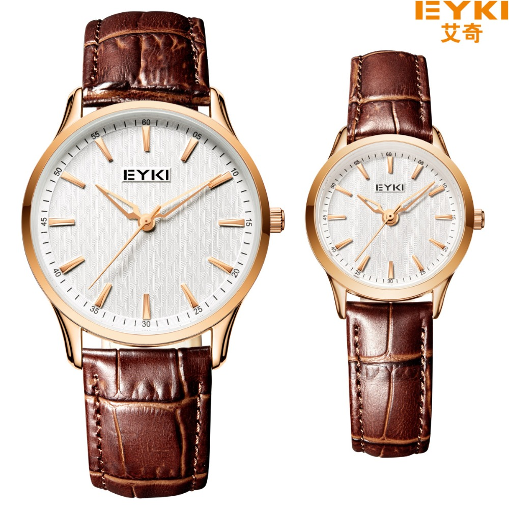2017 Promotion High Quality Luxury Brand Eyki Lover's Watches Fashion Casual Business Classic Auto Date Leather Men Women Dress eyki h5018 high quality leak proof bottle w filter strap gray 400ml