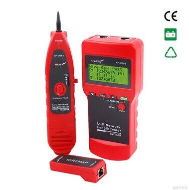 Livraison gratuite!! NOYAFA NF-8208 LCD affichage réseau LAN câble testeur fil Tracker traceur longueur Scanner RJ45