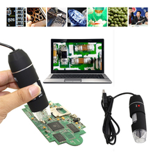 Mega Pixels 1000X 8 LED Digital Microscope USB Endoscope Camera Microscopio Magnifier Electronic Microscope W/ Stand цена в Москве и Питере