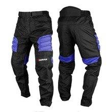 Motorcycle Pants Men's Oxford Motocross Pants Motorbike Hip Protector Moto Pants Motorcycle Trousers Black Red Blue цена