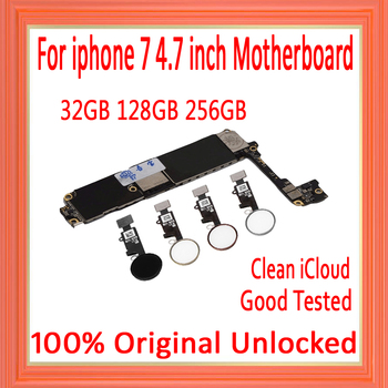 32gb/128gb/256g With/Without Touch ID for iphone 7 4.7inch Motherboard,Original unlocked for iphone 7 Mainboard with Free iCloud