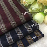 Worsted wool fabric and striped suit fabric suit jacket trousers manual DIY