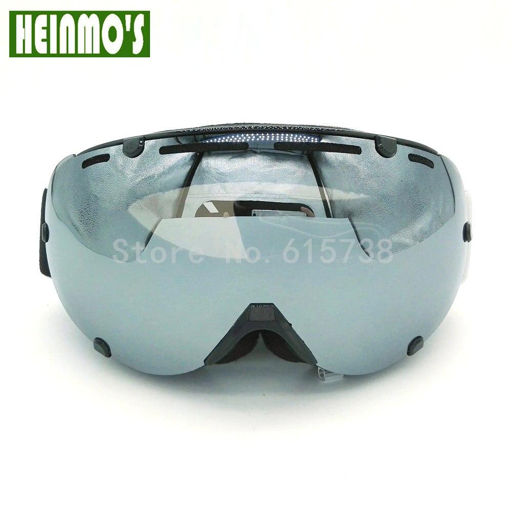 6 цветов лыжные очки двойной UV400 Анти-туман большой Лыжная маска очки на лыжах мужские и женские зимние, очки для катания на сноуборде взросл...