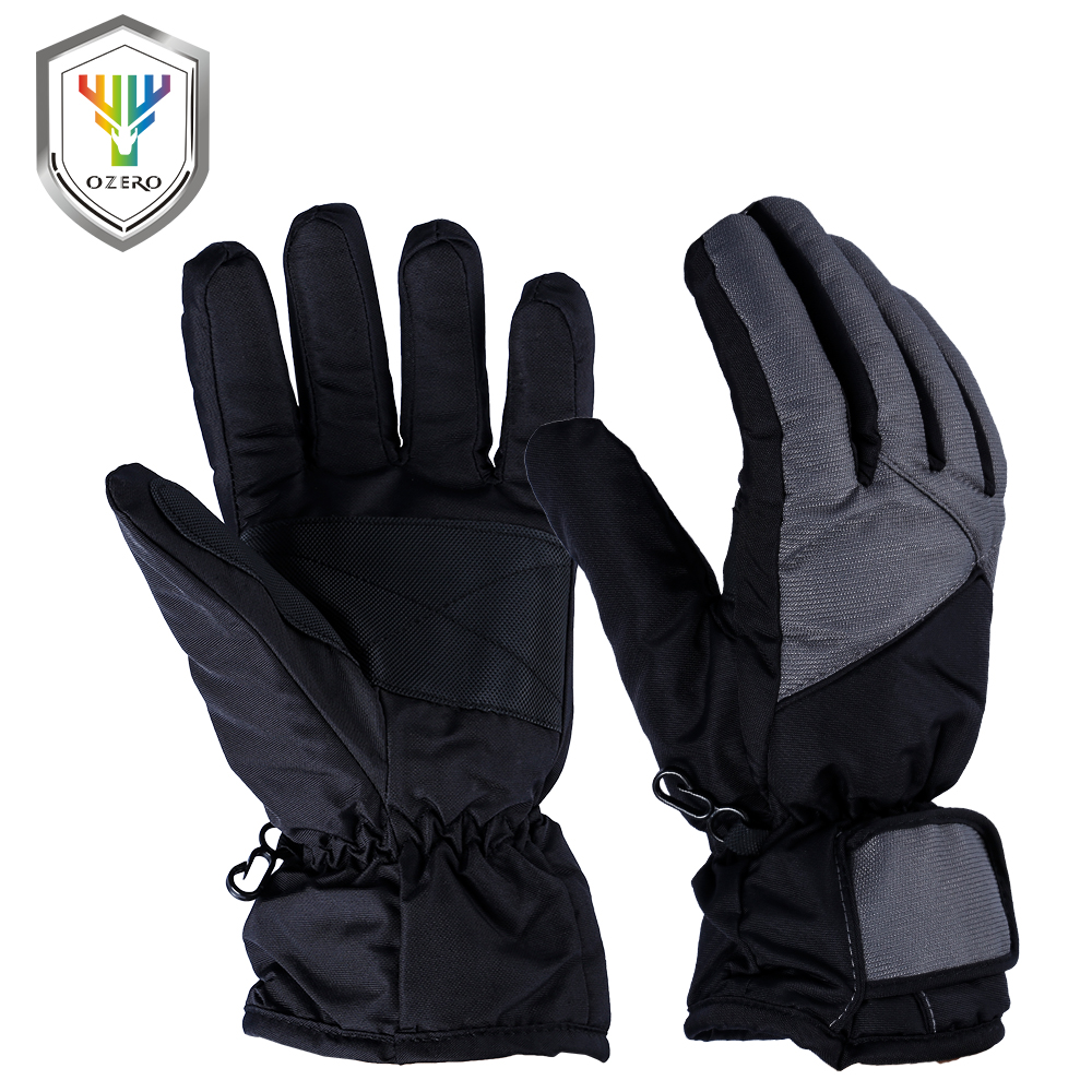OZERO New Winter Warm Work Gloves Driver Sports Windproof Waterproof Security Protection Safety Working For Woman Ski Glove 9006