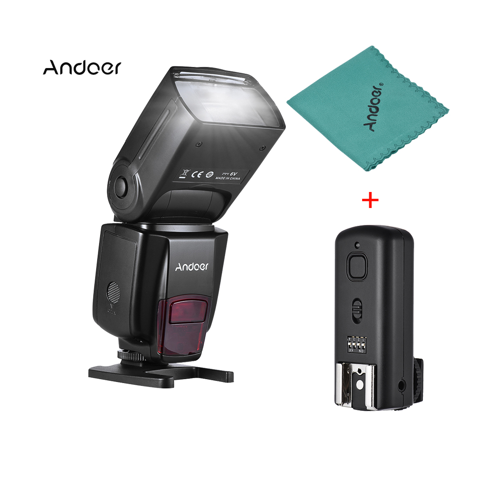 Andoer AD560 IV 2 4G Wireless Slave Speedlite Flash Light GN50 with Flash Trigger for Canon