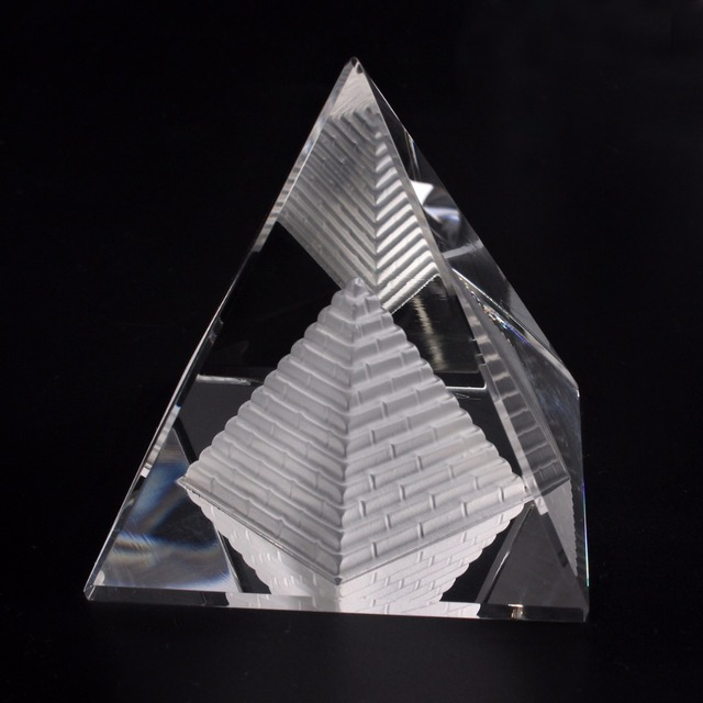 US $10 4 |Energy Healing Feng Shui Egypt Shape Clear Crystal Pyramid  Ornament Reiki Chakra Healing Amulet Home Decor-in Figurines & Miniatures  from