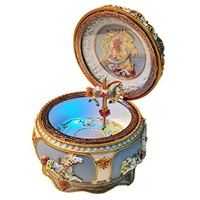 Mechanical Classical Collectible Music Box with Sankyo 18 Note,A Fine Horse Gracefully Twirls along with Music