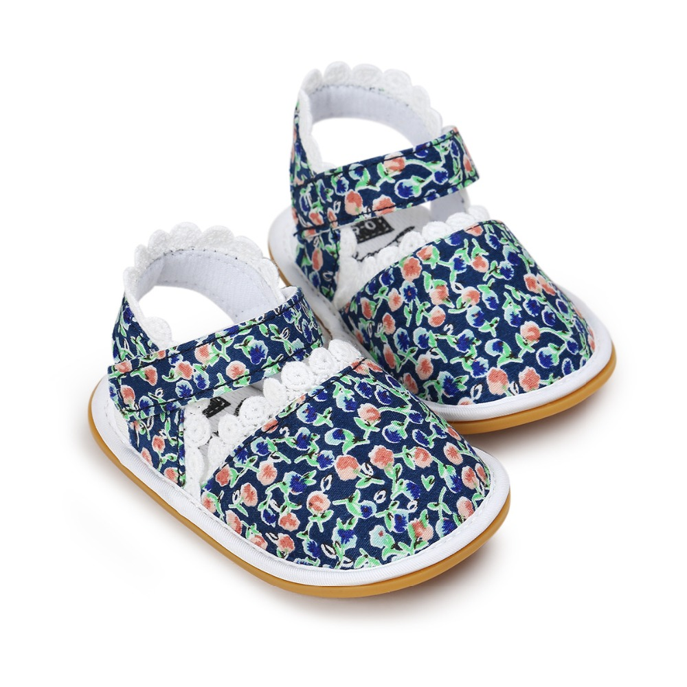 2018 New Baby sandals kids girls Summer shoes Sneakers stripe First walkers Infant  Fabric sandals for 0-6 6-12 12-18M