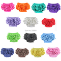 Wennikids New Unisex Cotton Ruffles Bloomers Baby Short Pants Baby Diaper Cover Ruffle Bloomers 14 Colors Free Shipping