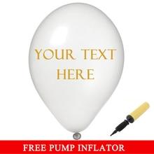 110 шт на заказ 12 дюймов воздушные шары с золотым текстом, белые, черные, персонализированные шары с принтами, воздушные шары с надписью для свадебной вечеринки