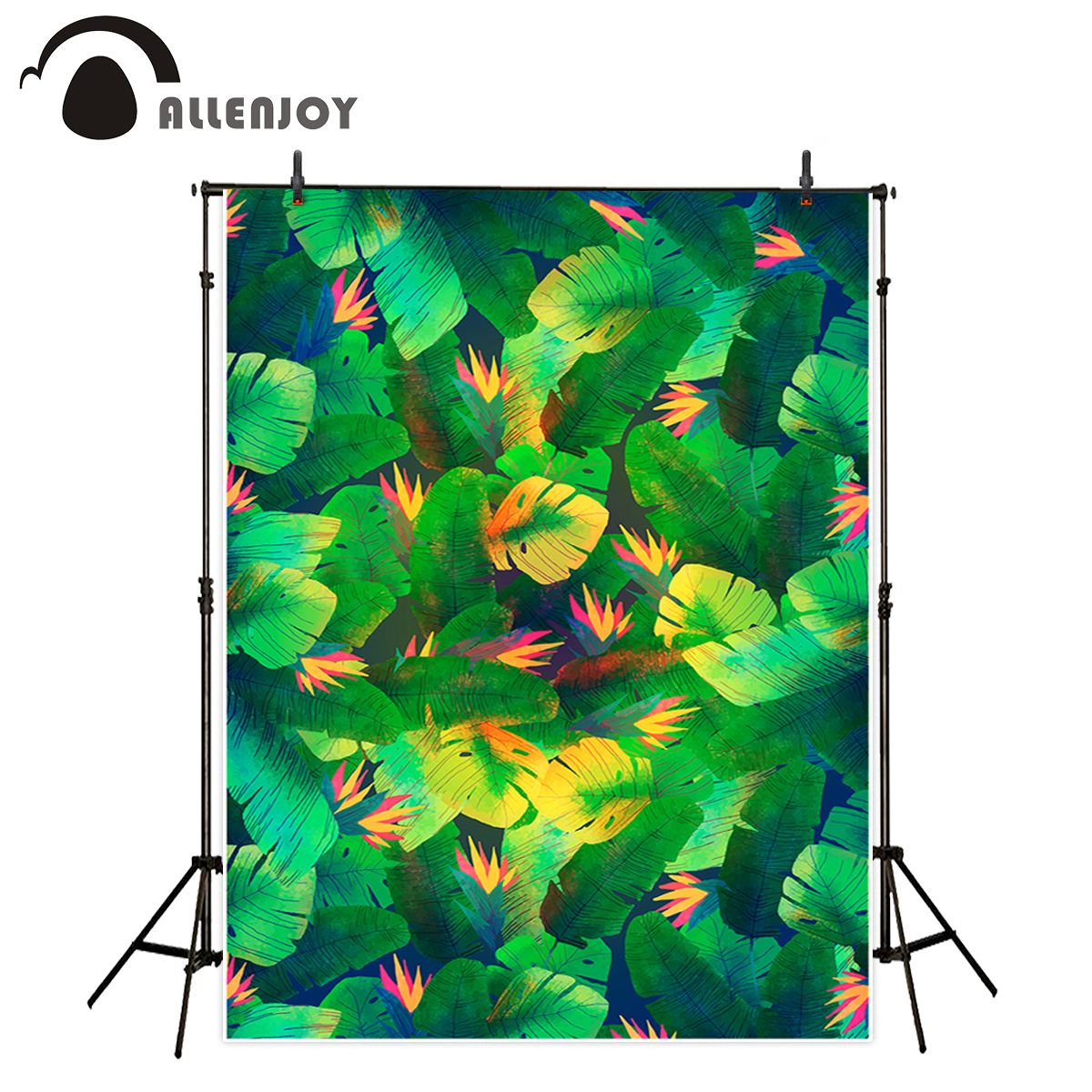 Allenjoy backgrounds for photography studio tropical green leaves flower room decoration backdrop photocall photo studio
