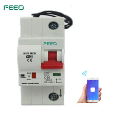 FEEO 1P 32/40/63/80A Remote control Wifi Circuit Breaker Intelligent Automatic Recloser overload short circuit protection