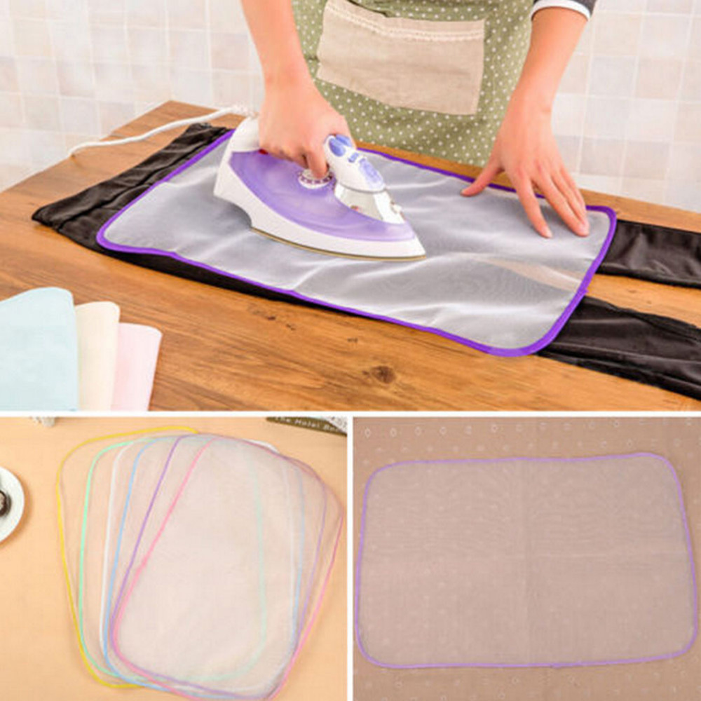 Mats Cloth Cover Protect Ironing Pad Heat Resistant Cloth Mesh Ironing Board Mat 40x60 cm image