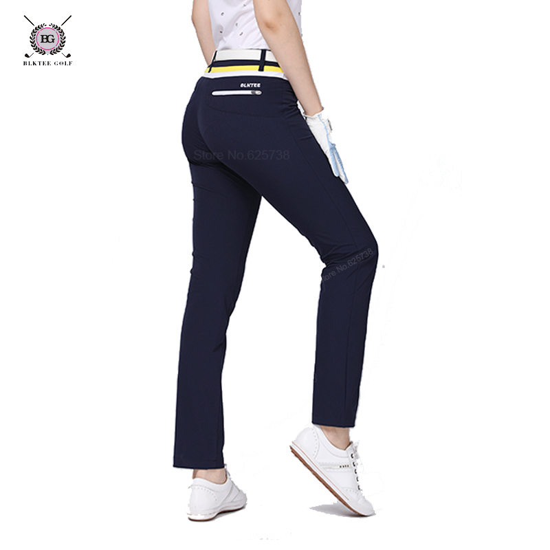 lady Golf Pants womens sports trousers bg summer golf training trousers Slim pants poleyster top quality sportwear S~XL