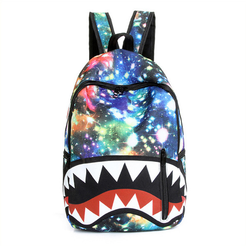 Aliexpress.com : Buy 2016 men and women galaxy backpack shark ...