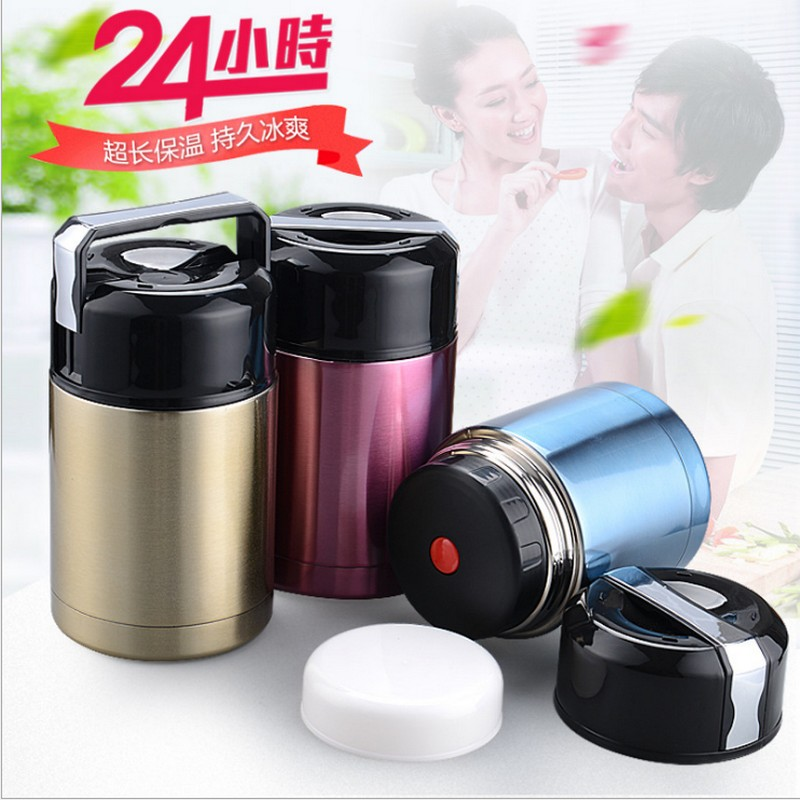 Hot Cold Food Thermos 800ml 1000ML Stainless Steel Vacuum Thermos Lunch box portable Kids meal box